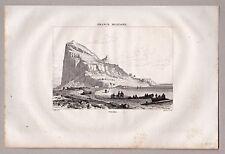Gibraltar - Gesamtansicht - Stich, Kupferstich 1835