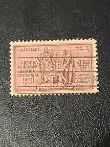 Louisiana Purchase Sesquicentennial 1953 3c US Stamp Scott #1020 Used - #1843
