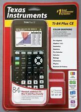 TI-84 Plus CE Color Graphing Calculator Silver Edition Black