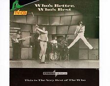 CD THE WHO who's better who's best DINO REC. HOLLAND