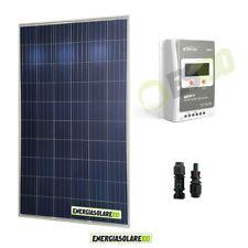 Kit 12V - Pannello Solare Fotovoltaico 270W  Regolatore di carica 20A MPPT