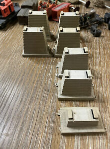 HO Scale 7 Pieces Graduated Pier Set HO Scale Track (not Complete Parts ONLY)