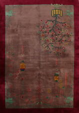 Antique Art Deco Nichols Chinese Area Rug Hand-Knotted Oriental Carpet Wool 9x11
