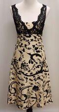 NWT-TIBI-Black-&-White-Silk-&-Lace-V-Neck-Dress-Sz-6