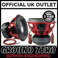 "Ground Zero GZNW 12Xmax 12"" 30cm 3000 watts RMS 2x1OHM Car Subwoofer Pre-Order"