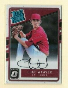 2017 Donruss Optic Rated Rookie Autograph #RRS-LW Luke Weaver STL Cardinals