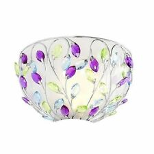 """Style at Home with Margie 12 1/4"""" LED Glass Crystal (remote control) Wall Sconce"""