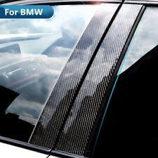 For BMW E90 3 Series Car Window B-pillars Cover Stickers Carbon Fiber Trim