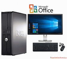 "FAST Dell Desktop PC Computer Core 2 Duo 3.0Ghz  8GB 2TB Win 10 AND 19"" LCD WIFI"