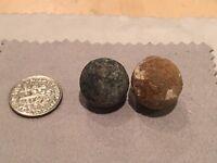 Civil War .69 Caliber Round Musket Ball Bullets - Richmond, Va