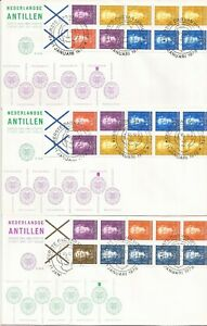 NETHERLAND ANTILLIES-   8  COVERS- ALL W/ BOOKLETS PANES