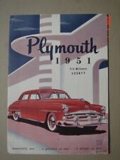 PLYMOUTH  model range  export brochure / Prospekt  1951.