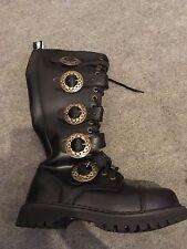 Demonia Steam - 20-Gótico Punk Zapatos Botas de Cuero Steampunk Industrial