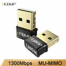 EDUP 150-1300Mbps Mini USB WiFi Adapter Wireless Network Card for Laptop Desktop