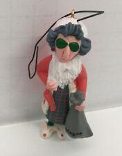 vintage keepsake hallmark shoebox greetings Maxine old lady santa ornament