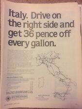 Italy. Italian State Tourism Office London Vintage Advertising 1978 Original