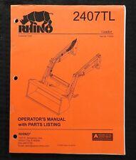 Genuine Rhino 2407tl Front Tractor Loader Operators Manual Amp Parts Catalog Nice