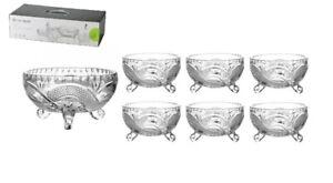7 Piece Glass Bowls Set Glass Fruit Triffle Salad Bowls Trifle Dessert Ice Cream