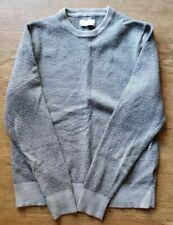 Jcp Extra Fine Merino Wool Sweater Gray Striped Boys Youth Medium