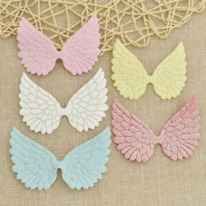Glitter Fabric Angel Wing Artificial Leather Appliques DIY Craft Bag Decor