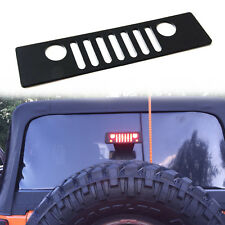 Jeep Grill Logo Third Brake Light Cover Trim Decal for 2007-2018 Jeep Wrangler