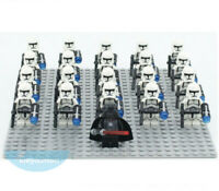 21PCS Star Battle White Clone Trooper Army Building Blocks Mini Figure DIY Toys