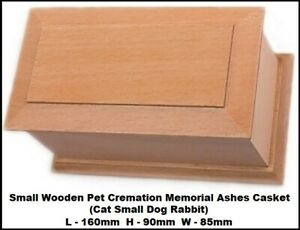 Small Wooden Pet Cremation Memorial Ashes Casket (Cat Small Dog Rabbit)