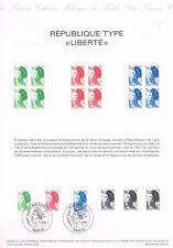 Document Officiel   1982 22   Republique Type Liberte  Yv N° 2219 A 2221