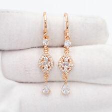 18K Yellow Gold Filled Shining Clear  Mystic Topaz Dangle Earrings Jewelry