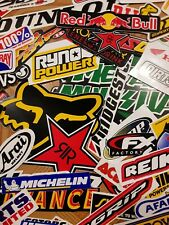 Lot Set of 10 Motorcycle Stickers Decals Racing Motocross Atv Dirtbike Utv