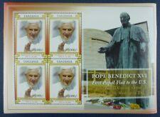Tanzania 2008 Papst Benedikt Pope Benedict USA-Reise 4582 Kleinbogen MNH