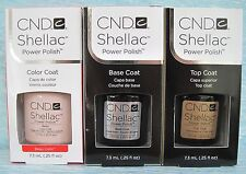 CND Shellac UV LED Gel Power Polish 3-pc Set BEAU, BASE & TOP COAT Authentic