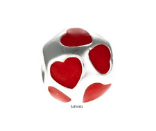 Authentic Pandora Love you Red Enamel Heart Charm. ***Retired***