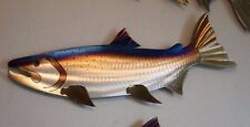 Metal Salmon/Chinook/Coho,Fish,Fishing,Cabin.Lodge,Art,Wall,Home decor,Wildlife