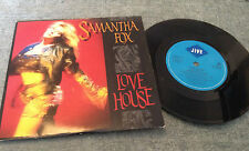 "7""  SAMANTHA FOX  LOVE HOUSE  1988"