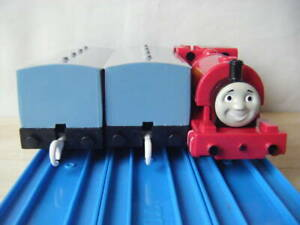 Thomas & Friends Skarloey Railway Coach 2pc. TOMY PLARAIL Motor OK runs on rail