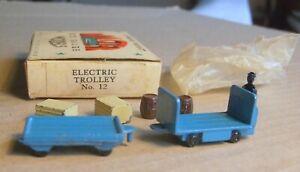 WARDIE MASTER MODELS SET No.12 ELECTRIC TROLEY, excellent, suits Hornby Dublo