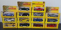 Various 1:43 Diecast Maisto / Shell Sports Cars Models: Ferrari Aston Martin etc