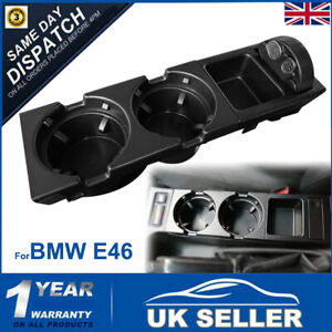 For BMW E46 325 328 330 1999-06 Center Console Drink Cup Holder Coin Storage