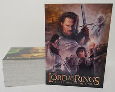 COMPLETE SET! 2004 Topps Lord of the Rings-Return of the King Card Set #91-162