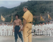 JOHN SAXON Signed 10X8 Photo ENTER THE DRAGON Bruce Lee COA