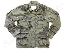 New Ralph Lauren Denim & Supply 100% Cotton Green Embroidered Field Jacket sz L