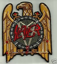 """SLAYER"" EMBROIDERED PATCH MOTORCYCLE BIKER ROCKABILLY TATTOO HEAVY METAL PUNK"