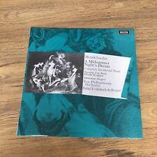 Mendelssohn A Midsummer Night's Dream De Burgos New Philharmonia Decca SXL 6404