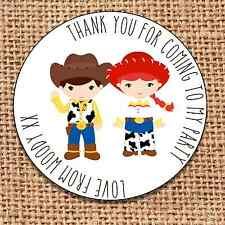 Cowboy Party bag stickers 24 thank you for coming sweet cone labels cowgirl