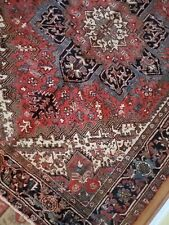 7 x 10 or 7 x 9.1 Antique Fine Serapi Heriz Rug Vintage Oushak Kazak Caucasian