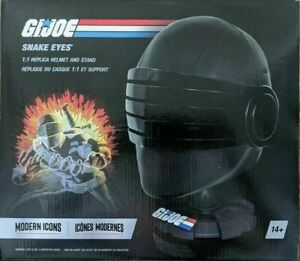 Modern Icons Hasbro G.I. Joe Snake Eyes Replica Helmet & Stand 1:1 Scale