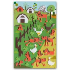 ✰ CUTE FARM DOG FELT STICKERS Sheet Animal Scrapbook Country Barn Fuzzy Sticker