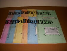 Vintage Weekly Magazine of Philately, Stamps, Lot of 11, 1958-1959!