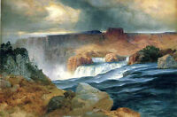 Large Oil painting Thomas Moran - Shoshone Falls, Idaho great landscape canvas